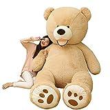 BEARS'HOMEぬいぐるみ  くま クマ 熊 テディベア 抱き枕 クッション 特大 かわいい オシャレ お祝い (ブラウン, 130cm)