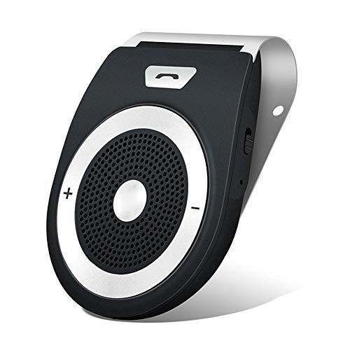 Kit de Manos Libres Bluetooth para Auto, Aigital, Manos Libres, Manos Libres, Altavoz estéreo de música, Adaptador inalámbrico para Parasol con micrófono Integrado con Cargador de Coche, A, Negro