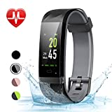 LETSCOM Fitness Tracker Color Screen HR, Activity Tracker with Heart Rate...