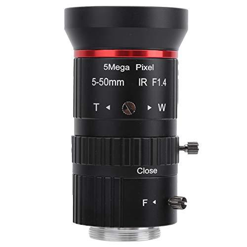 Cameralens, 5Mp handmatige irislens voor beveiligingscamera voor de meeste beveiligingscamera's