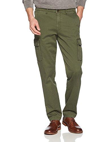 Goodthreads Men's Straight-Fit Vintage Cargo Pant, Deep Depth/Olive, 32W x 32L
