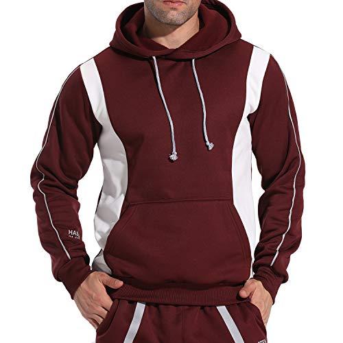 FITTOO Pantalones Deportivos para Hombre Mallas de Fitness Elásticos y Transpirables #2 Rojo Extra Grande