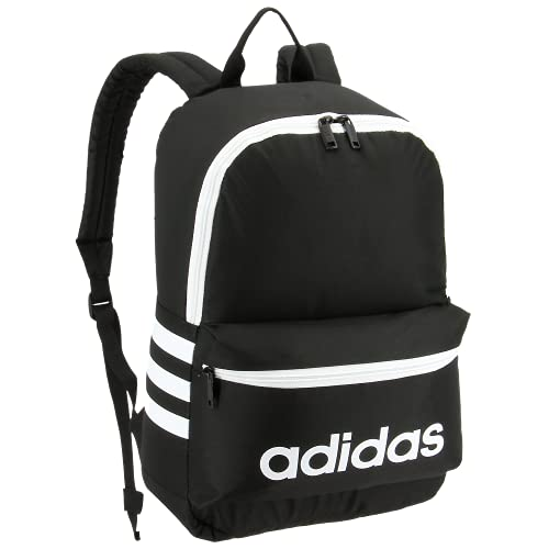 adidas Boys' Youth Classic 3S Backpack, Black/White, One...