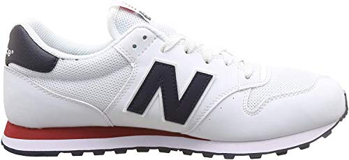 New Balance 500 Core, Zapatillas para Hombre, Blanco (Munsell White/Eclipse/Tempo Red Swb), 40.5 EU