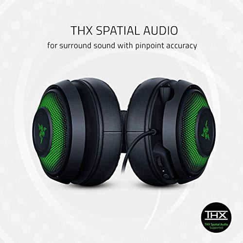Razer Kraken Ultimate Cuffie On-Ear da Gioco USB per PC e Switch Dock con Audio Surround, Microfono ANC e RGB Chroma, Nero (RGB Chroma)
