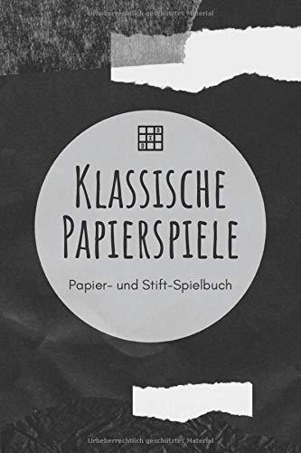 Klassische Papierspiele - Papier- und Stift-Spielbuch: A5 Papierspielbuch   Tic-Tac-Toe   Galgenmännchen   Käsekästchen   Gesellschaftsspiel   ... Kinder, Enkelkinder, Männer und Frauen