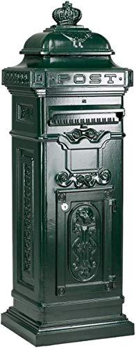 Casa Padrino Jugendstil Standbriefkasten 38 x 33 x H. 105 cm Säulenbriefkasten, Farbe:schwarz