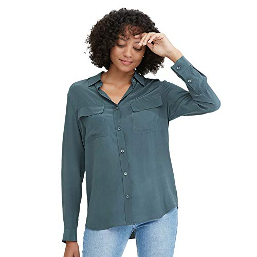 LilySilk Dames 100 Zijde Blouse Lange Mouw Dames Shirts Top 18 Momme Pure Zijde