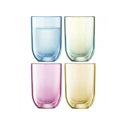 CRISTALICA Vodka Verre Polka, Ensemble de 4, 60ml, Multicolored, Verre, (German Crystal Powered by