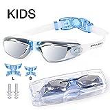 Snowledge Schwimmbrille Kinder Schwimmenbrille Leckfrei Antibeschlag Breite Ansicht UV-Schutz Schwimmen