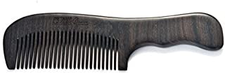 SHARPSWISS No Static Black Nature Handle Wooden Hair Combs [並行輸入品]