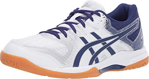ASICS Women's Gel-Rocket 9 Volleyball Shoes, 8.5M, White/Dive Blue
