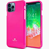 SATICK Jelly series [Thin Slim] Phone Case [Flexible] Pearl Glitter Jelly [Drop Protection] Reinforced TPU Case [Lightweight] Bumper Cover for(iPhone 12 Pro MAX,Neon Pink