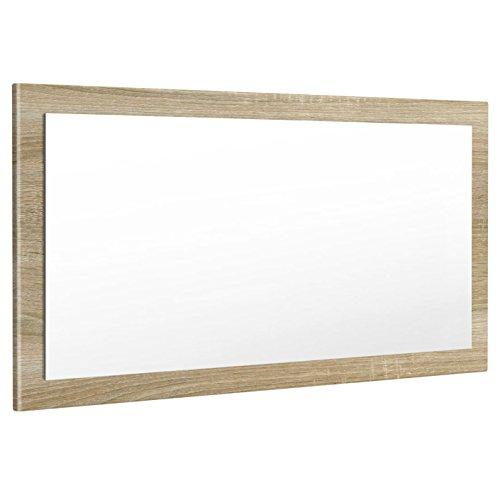 Vladon Spiegel Wandspiegel Lima 110cm in Eiche sägerau