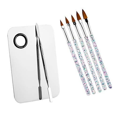 Beaupretty 7pcs palette de couleurs de pinceau d'art d'ongle ont placé le stylo de manucure pour le maquillage de clou pour la femme