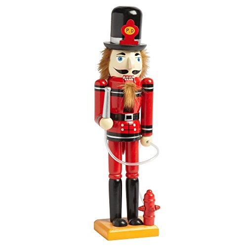 "Nantucket Home Wooden 15"" Firefighter Christmas Nutcracker Decor"
