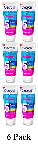 Clearasil Ultra Exfoliating 5 in 1 Face Wash (6 Pack)