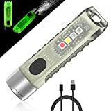 Jeebel Mini Linterna LED de Brillan Oscuridad Antorcha de Bolsillo Llavero Aurora Recargable USB 400 Lúmen, Luz lLateral EDC Ultra Violeta/Blanco/Azul Magnético Impermeable IP65,Emergencia,Idea Regalo