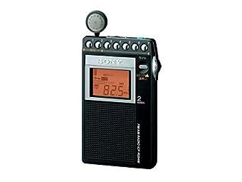 ソニー PLLシンセサイザーラジオ FM/AM/ワイドFM対応 片耳巻取り 名刺サイズ ICF-R354M