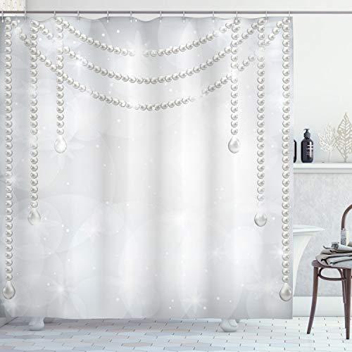 cortina gris perla fabricante Ambesonne