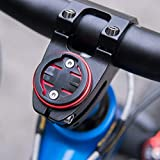 Lorenlli MTB Bicicleta de Carretera Bicicleta Bicicleta Soporte de Ordenador Vástago Tapa Superior Ciclismo Cronómetro GPS Soporte de Montaje del velocímetro para Garmin Bryton Fit CATEYE