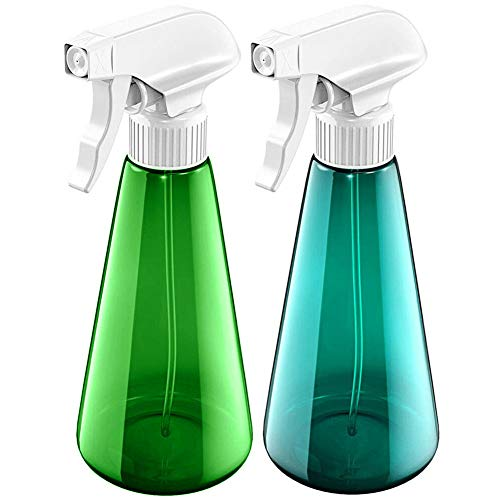 Povinmos 2Pack Plastic Spray Bottles Empty and Reusable Pressure Sprayer Watering Can for Cleaning Solutions