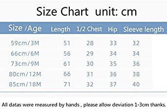 DDY Baby Snowsuit Hooded Warm Romper Jumpsuit Winter Onesies 3-6/Months Outfits Outwear for Baby Boys Girls