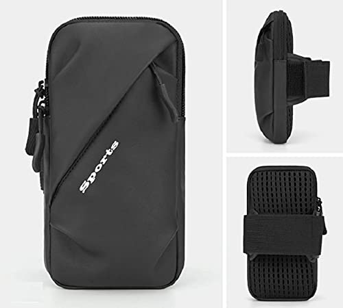Sheng Jie Brazalete de teléfono móvil: Brazalete para Todos los Deportes de iPhone y Galaxy, para Corredores Masculinos, Corredores y gimnasios a pie.Correa Ajustable, Bolsa de Claves