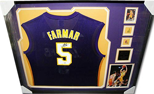 Jordan Farmar Signed Autograph Jersey Custom Framed Los Angeles Lakers PSA/DNA - Autographed NBA Jerseys