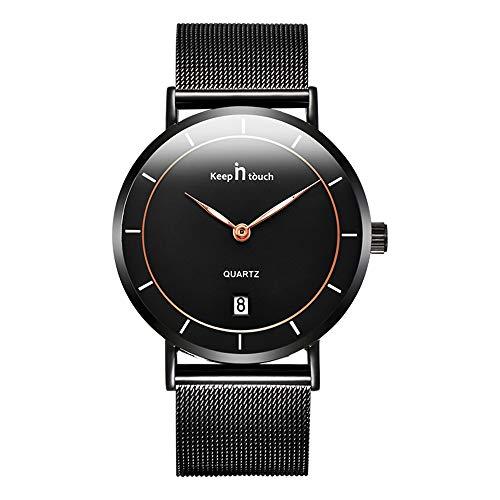 Infinity U-Ultra-sottile Orologio al quarzo per uomo Donna Orologio da polso casual alla moda minimalista impermeabile con calendario