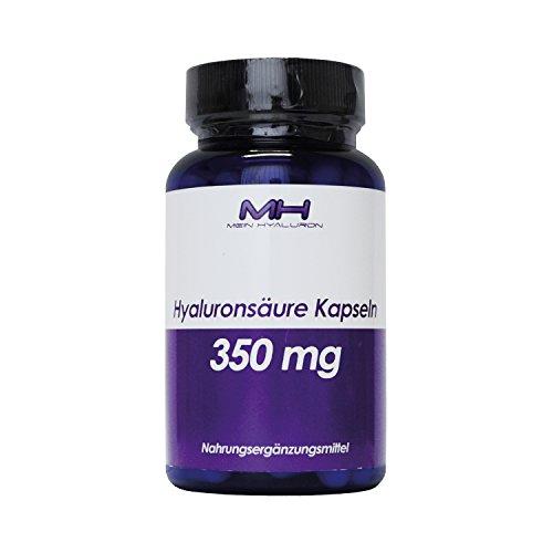 Hyaluronsäure Kapseln - 350 mg - 90 Stück - Hyaluron aus Fermentation mit 500-700 kDa (mikro-molekular).