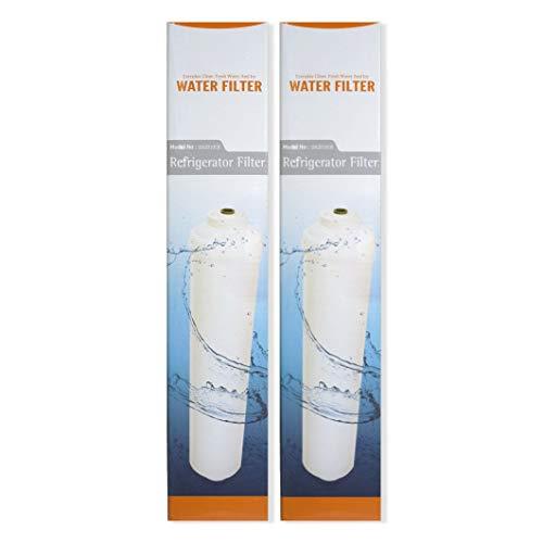 Microfilter DA2010CB | Lot de 2 - Filtre à eau externe réfrigérateur compatible avec Samsung DA29-10105J - HAFEX/EXP / LG 5231JA2010B Haier / Wpro - Whirlpool USC100 / Beko / Haier frigo
