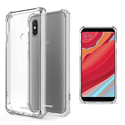 Moozy Cover Silicone Trasparente per Xiaomi Redmi S2 - Custodia Antiurto, Crystal Clear Case, TPU Morbido
