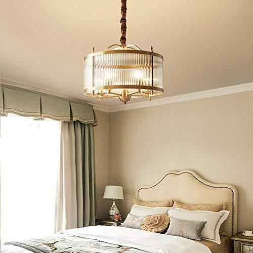 DJY-JY Lámpara de estudio de cobre dorado simple lámpara de restaurante lámpara de estudio cálida romántica cobre lámparas colgantes 500 * 415 mm decoración