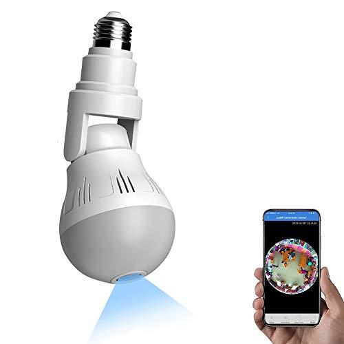 XUANWEI Bulb Cámara espía 360 ° Panorámica Gran Angular Oculta 1080P Cámara de visión Nocturna de Alta definición Cámara de monitoreo de Movimiento