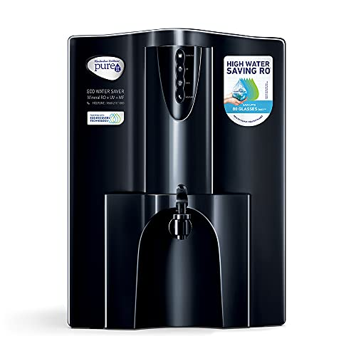 HUL Pureit Eco Water Saver Mineral RO+UV+MF wall mounted/Counter top Black 10L Water Purifier