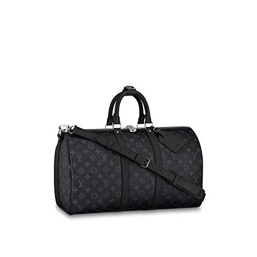 Louis Vuitton Monogram Eclipse Keepall Bandouliere Travel Bag (Keepall 45)