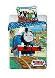 Thomas and Friends 017 - Biancheria da letto per bambini, 100 x 135 cm + 40 x 60 cm