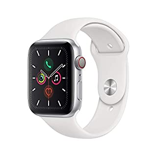 Apple Watch Series 5 (GPS+Cellular, 44mm) - Silver Aluminum Case with White Sport Band (B07XQSJ7PD) | Amazon price tracker / tracking, Amazon price history charts, Amazon price watches, Amazon price drop alerts