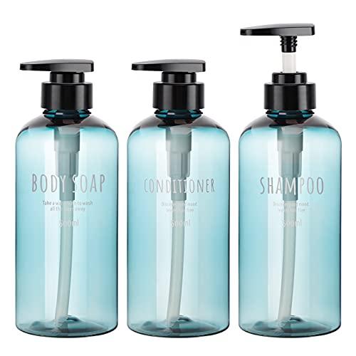 3 Botellas para dispensador de jabón de loción, Segbeauty 500ml Botellas de...