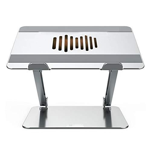 LWSHOP LYRStore886 Portátil de pie, Ajustable Vertical portátil Multi-ángulo con Heat-Vent Compatible for Ordenador portátil (10-17 Pulgadas) Mano de Obra Exquisita