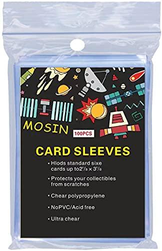 Classic Soft Hüllen, Pockets Sammelkarten,Standard Size Trading Card Sleeves Deck Protector for Magic The Gathering MTG, Pokemon, Baseball, Dropmix, 100 Stück, transparent