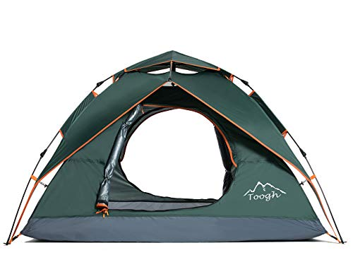 Toogh Wurfzelt 2-4 Personen Wasserdichtes Pop up Zelt Ultraleicht mit Tragetasche für Camping Festival