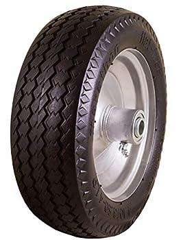 Marathon 4.10/3.50-4  Flat Free All Purpose Utility Tire on Wheel 3.5  Centered Hub 5/8  Bearings