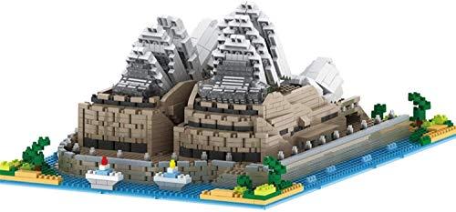 CZWYF BAU- & Konstruktionsspielzeug Weltberühmtes Wahrzeichen Sydney Opera House Nano Micro Blöcke BAU Spielzeug, 2360 Stück Nano Ziegelsteine, Kinderbau Pädagogische DIY Spielzeug Geschenke