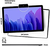 "Samsung Galaxy Tab A7 Tablet, Display 10.4"" TFT, 64GB Espandibili Fino a 1TB, RAM 3GB, Batteria 7.040 mAh, LTE, Android 10, Fotocamera Posteriore 8 MP, Dark Gray [Versione Italiana] #1"
