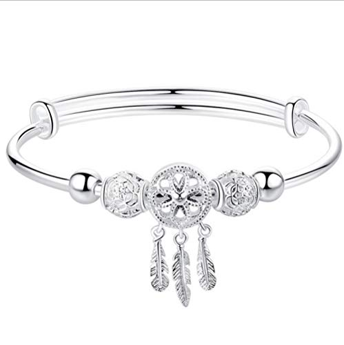 金桥 Sweet Dream Catcher Bangle Round Bead Bracelet Tassel Women Fashion