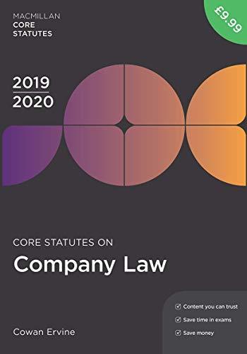 Core Statutes on Company Law 2019-20 (Macmillan Core Statutes)