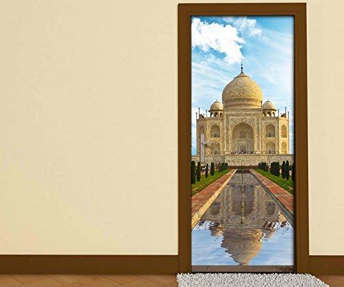 Türaufkleber tadsch mahal Skyline Indien Palast Tür Bild Türposter Türfolie Druck Aufkleber 15A2434, Türgrösse:90cmx200cm