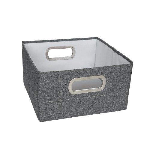 JJ Cole Heather Storage Box, Slate, 6.5